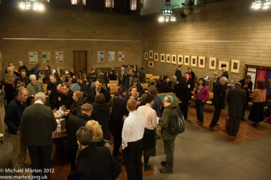 Visitors to the Jaspers' books launch