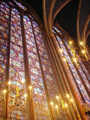 Sainte-Chapelle, Paris (photo by P M Medlock Johnson)